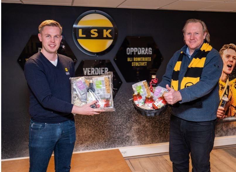 Jørgen Heen Enger fra LSK og Jan Terje Melandsø fra Italiafavoritter - Samarbeid